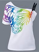preiswerte T-Shirt-Damen Tierfell-Druck T-shirt, Bateau Baumwolle