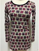 זול סוודרים לנשים-פסים - סוודר שרוול ארוך בגדי ריקוד נשים