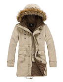 cheap Men's Jackets & Coats-Men's Going out Padded - Solid Colored