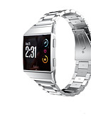 cheap Men's Hoodies & Sweatshirts-Watch Band for Fitbit ionic Fitbit Sport Band Stainless Steel Wrist Strap