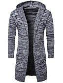 cheap Men's Sweaters & Cardigans-Men's Weekend Long Sleeve Slim Cardigan - Solid Colored Hooded