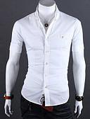 billige T-skjorter og singleter til herrer-Bomull Klassisk krage Skjorte Herre - Ensfarget Rosa XL / Kortermet / Sommer / Høst