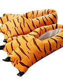 ieftine Fracuri-Papuci Kigurumi Tigru Pijama Întreagă Costume Poliester Bumbac Portocaliu Cosplay Pentru Sleepwear Pentru Animale Desen animat Halloween