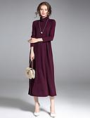 baratos Vestidos Femininos-Mulheres Sofisticado Moda de Rua Pulôver - Sólido