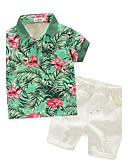 tanie Zestawy ubrań dla chłopców-Brzdąc Dla chłopców Nadruk Krótki rękaw Bawełna Komplet odzieży