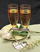 preiswerte Kleider für die Blumenmädchen-Zinklegierung Toasten Flöten Geschenkbox Hochzeit Ganzjährig