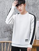 cheap Men's Hoodies & Sweatshirts-Men's Sweatshirt - Color Block Round Neck