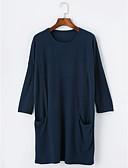 olcso Női pulóverek-Női Hosszú Pulóver Egyszínű / Ősz / Tél