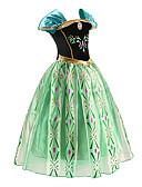 abordables Vestidos de Niña-Princesas Cuento de Hadas Disfrace de Cosplay Chica Cosplay de películas  Verde Vestido Halloween Año Nuevo Raso Algodón