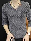 cheap Men's Sweaters & Cardigans-Men's Weekend Long Sleeve Slim Pullover - Solid Colored V Neck