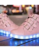 hesapli Gelinlikler-Genç Kız Ayakkabı PU Sonbahar / Kış Rahat Spor Ayakkabısı için Siyah / Kırmzı / Pembe