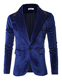 זול חולצות לגברים-אחיד סגנון רחוב בלייזר-בגדי ריקוד גברים / שרוול ארוך