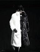 cheap Men's Jackets & Coats-Men's Party Long Faux Fur Fur Coat - Solid Colored Shirt Collar / Long Sleeve