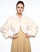 ieftine Bluze de Damă-Manșon Lung Blană Artificială Nuntă / Party / Seara Șal de Damă Cu Cataramă Paltoane / Jachete