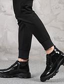 お買い得  メンズジャケット&コート-男性用 靴 レザー 春 / 秋 ファッションブーツ / ダイビングシューズ ブーツ ブーティー/アンクルブーツ ブラック / レッド