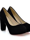 baratos Vestidos Femininos-Mulheres Sapatos Pele Nobuck Primavera / Outono Conforto Saltos Verde / Azul / Amêndoa