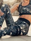 זול מכנסיים לנשים-צועד - פרחוני, דפוס ספורטיבי מותן בינוני יומי בגדי ריקוד נשים
