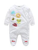 hesapli Nedime Elbiseleri-Bebek Genç Kız Pamuklu Hayvan İlkbahar/Kış Uzun Kollu Tek Parça Hayvan Desenli Beyaz