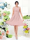 hesapli Nedime Elbiseleri-Ürün örneği A-Şekilli / Prenses Taşlı Yaka Diz Boyu Jorget Haç ile Nedime Elbisesi tarafından LAN TING BRIDE®