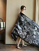 זול צעיפים אופנתיים-מלבן פשתן דפוס בגדי ריקוד נשים / חורף