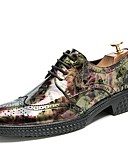 cheap Men's Jackets & Coats-Men's Formal Shoes Patent Leather Fall / Winter Oxfords Black / Brown / Party & Evening