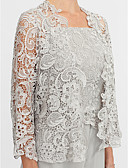 cheap Mother of the Bride Dresses-3/4 Length Sleeve Lace Wedding / Party / Evening Women's Wrap With Lace Shrugs
