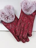 cheap Gloves-Women's Pure Accessories Winter Gloves Windproof Keep Warm Waterproof PU Wrist Length Fingertips Gloves - Jacquard