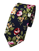 cheap Men's Ties & Bow Ties-Men's Party / Work / Basic Cotton Necktie - Jacquard / Cute