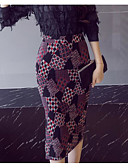 tanie Damska spódnica-Damskie Vintage Bodycon Spódnice Geometryczny