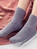 billige Sokker og strømper til damer-Herre Sokker Ultravarm Ensfarget Annet Sheep lær, Fem Paneler Mørkegrå Lyseblå