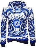 cheap Sport Watches-Men's Street chic Long Sleeves Hoodie Print Hooded