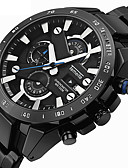 cheap Sport Watches-Men's Sport Watch Military Watch Wrist Watch Quartz Alarm Calendar / date / day Chronograph Stainless Steel Band Analog-Digital Vintage Casual Fashion Black / Silver - Silver Silver / Black Black