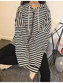 preiswerte Damen Kapuzenpullover & Sweatshirts-Damen Kapuzenshirt Gestreift Baumwolle