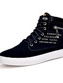 billige Herreskjorter-Herre Novelty Shoes Velourisert Vår / Høst Komfort Treningssko Mørkeblå / Kakifarget / Burgunder / Perlearbeid