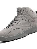 זול מכנסיים ושורטים לגברים-בגדי ריקוד גברים תחרה עור חזיר סתיו נוחות נעלי אתלטיקה כדורסל שחור / אפור / חאקי