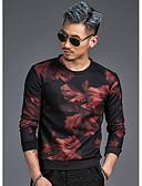 cheap Men's Hoodies & Sweatshirts-Men's Chic & Modern Sweatshirt - Reactive Print Solid Color, Heart Style Modern Style Print