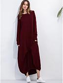 voordelige Maxi-jurken-Dames Katoen Kaftan Jurk - Effen Maxi
