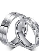 cheap Quartz Watches-Men's Women's Cubic Zirconia Engagement Ring Rings Set - Cubic Zirconia, Titanium Steel Princess Classic 6 / 7 / 8 / 9 / 10 Titanium For Wedding Party / Evening Evening Party