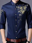 povoljno Muške košulje-Majica Muškarci - Ulični šik Cvjetni print / Dugih rukava