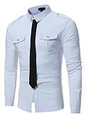 baratos Camisas Masculinas-Homens Camisa Social Punk & Góticas Estampa Colorida Algodão