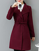 cheap Women's Coats & Trench coats-Women's Work Street chic Plus Size Coat - Solid Colored