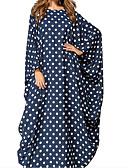 tanie Sukienki-Damskie Wyjściowe Urocza Moda miejska Luźna Sukienka - Groszki Geometryczny Zwierzę Maxi