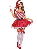 abordables Relojes de Bolsillo-Papá Noel Mrs.Claus Disfraz Mujer Navidad Festival / Celebración Accesorios Rojo Vacaciones