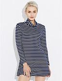cheap Women's Dresses-Women's Holiday Cotton Shift Dress - Stripe Artistic Style High Rise
