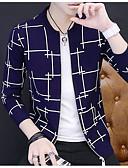 זול חולצות לגברים-צמר אחיד - קרדיגן עומד בגדי ריקוד גברים