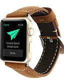 رخيصةأون فساتين للنساء-حزام إلى Apple Watch Series 4/3/2/1 Apple بكلة كلاسيكية جلد طبيعي شريط المعصم