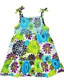 tanie Sukienki dla dziewczynek-Brzdąc Dla dziewczynek Casual / Aktywny Kwiaty / Miks kolorów Bez rękawów Sukienka / Bawełna