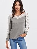 cheap Party Dresses-Women's Street chic Cotton T-shirt - Color Block Boat Neck / Lace