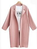 preiswerte Damenmäntel und Trenchcoats-Damen - Solide Ausgehen Mantel, Hemdkragen