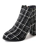 abordables Corbatas y Pajaritas para Hombre-Mujer Zapatos PU Otoño / Invierno Confort Botas Dedo Puntiagudo Mitad de Gemelo Cremallera Blanco / Negro